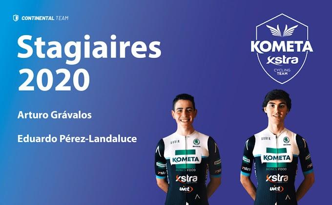 El equipo Kometa - Xstra Cycling Team anunció a sus dos stagiaires