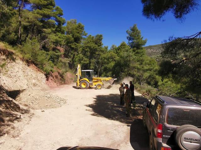 Συνεργεία της Π.Ε. Αργολίδας ανοίγουν και βελτιώνουν δασικούς δρόμους