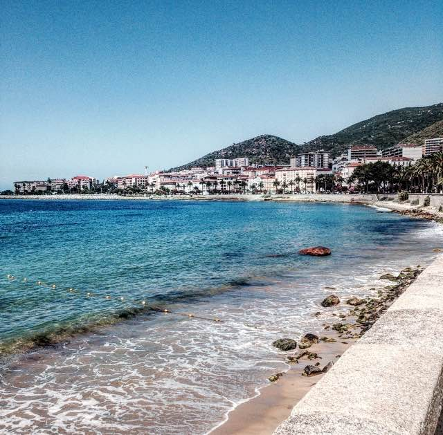 ajaccio corse corsica holidays vacances sea beach mer plage trip travel voyages blue bleu photo pic city ville enjoy