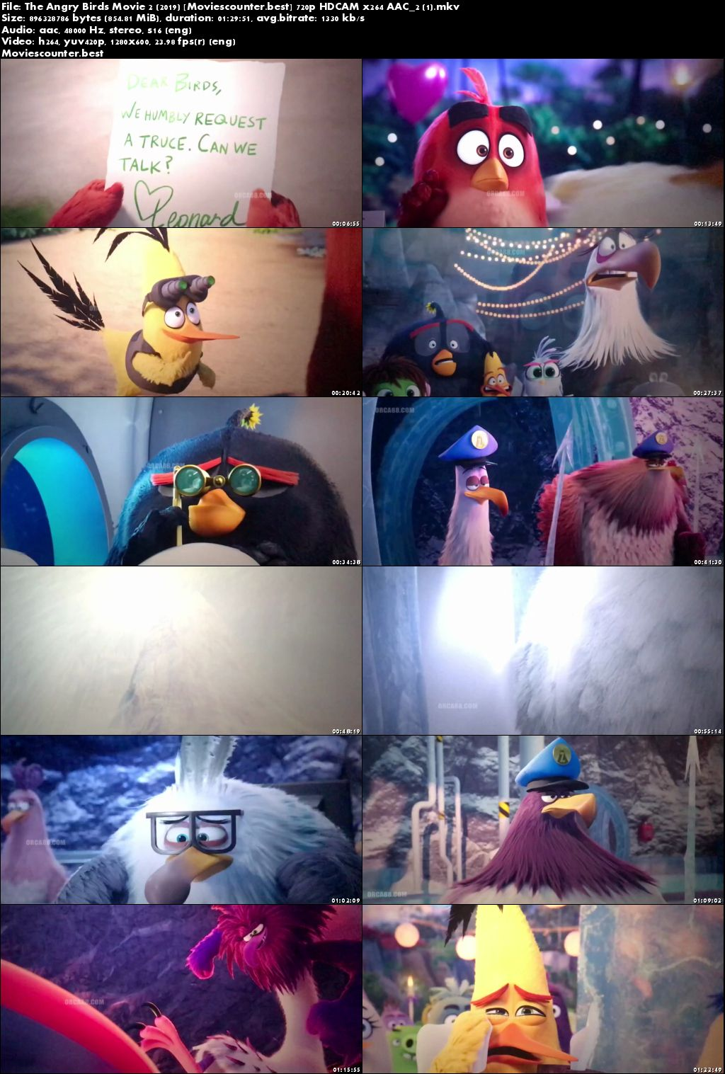 Screen Shots The Angry Birds Movie 2 2019 English HD 720p