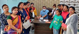 जेसीआई महिला शाखा ने लगाया स्वास्थ्य परीक्षण शिविर | #NayaSaberaNetwork