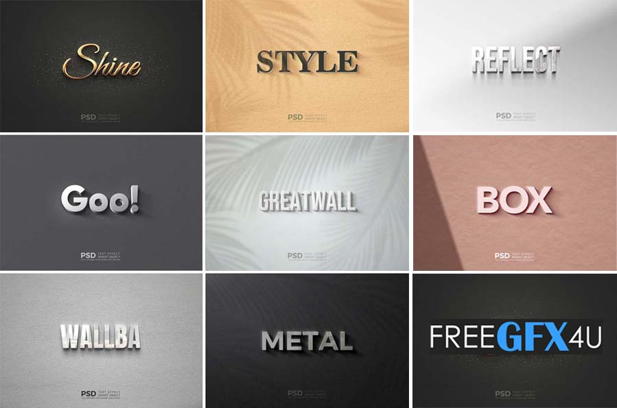8 Modern Text Style Effect