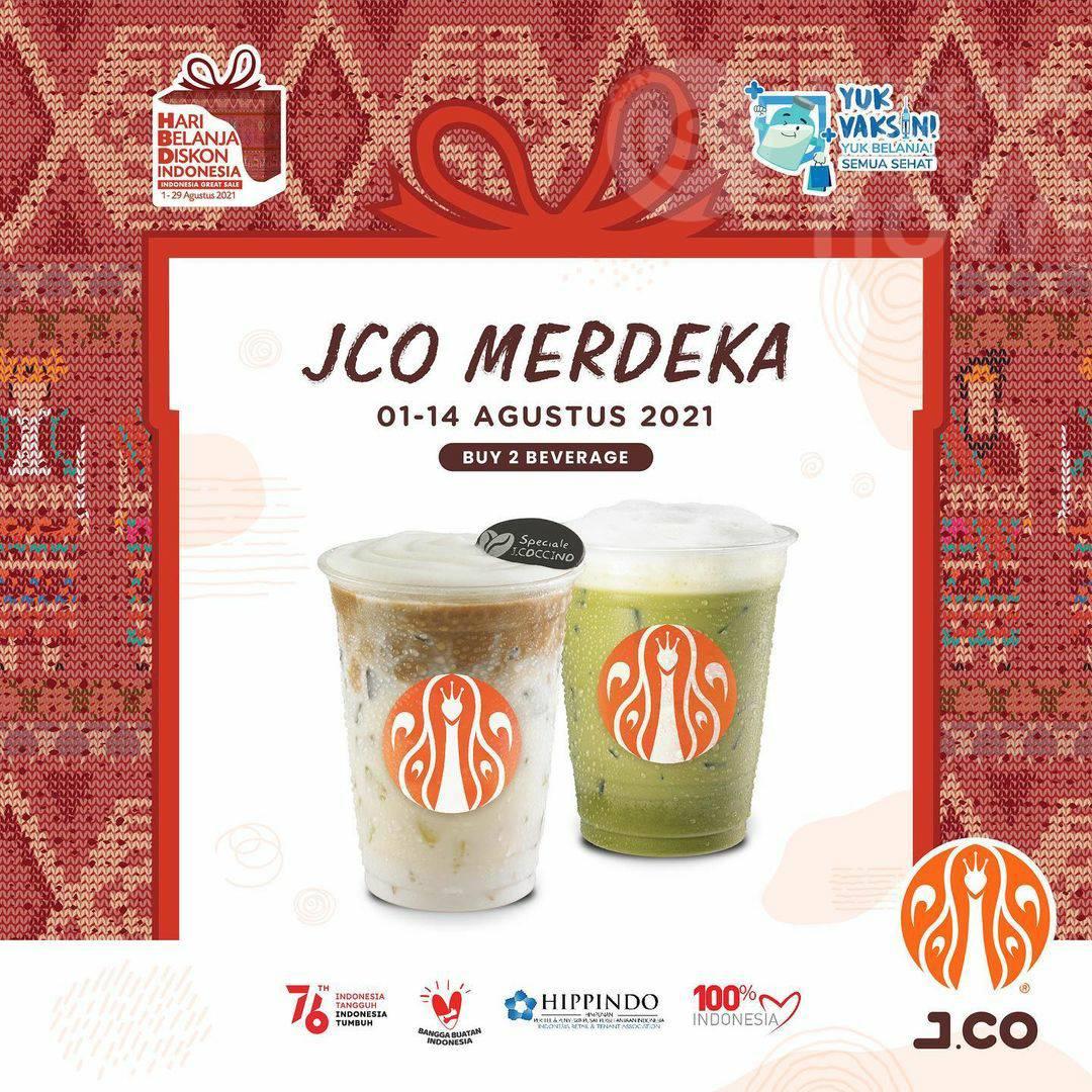 Promo JCO MERDEKA - Harga Spesial 2 Beverages Due cuma Rp. 52.000