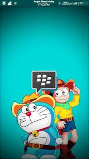 Download BBM Doraemon Transparan Full DP