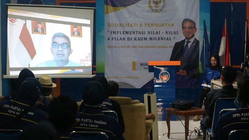 Muhammad Farhan Gelar Sosialisasi Empat Pilar Kebangsaan ke Kaum Milenial Cimahi