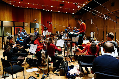 Robert Ames and the London Contemporary Orchestra recording the soundtrack for the film Theeb