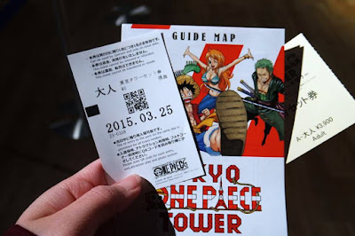 Guide Map of Tokyo One Piece Tower Japan