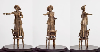 The Pankhurst maquette: the final bronze