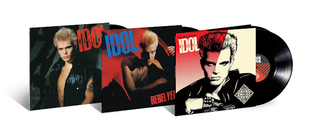 Billy Idol and Rebel Yell, plus double-LP greatest-hits collection Idolize Yourself: The Very Best of Billy Idol - Covers