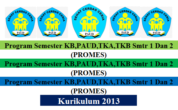 Program Semester Pembelajaran KB,PAUD,TKA,TKB K13 SMT 1 Dan 2