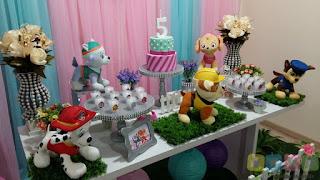 Decoração festa infantil Skye e Everest Porto Alegre