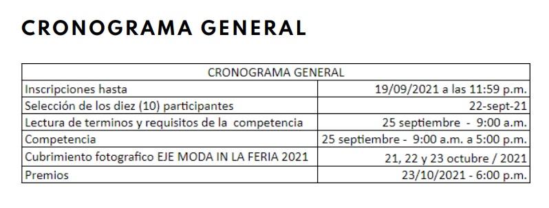 CRONOGRAMA GENERAL