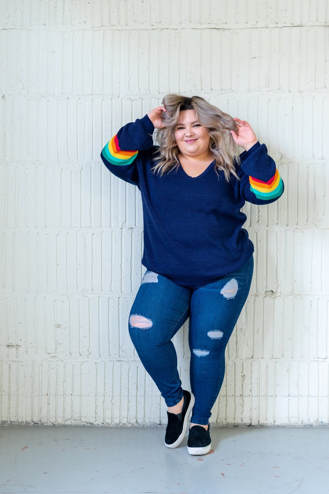 Chicago Plus Size Petite Fashion Blogger and model Natalie Craig, of Natalie in the City, compares Stitch Fix and Dia & Co styling services to find the best one for plus sizes.
