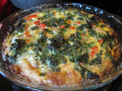 GF Kale and Bacon Quiche with Buttermilk Biscuit Crust