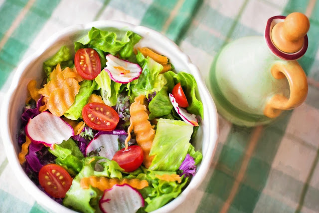 healthy salad in plate