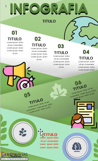 Plantilla para infografía en Word modelo 25