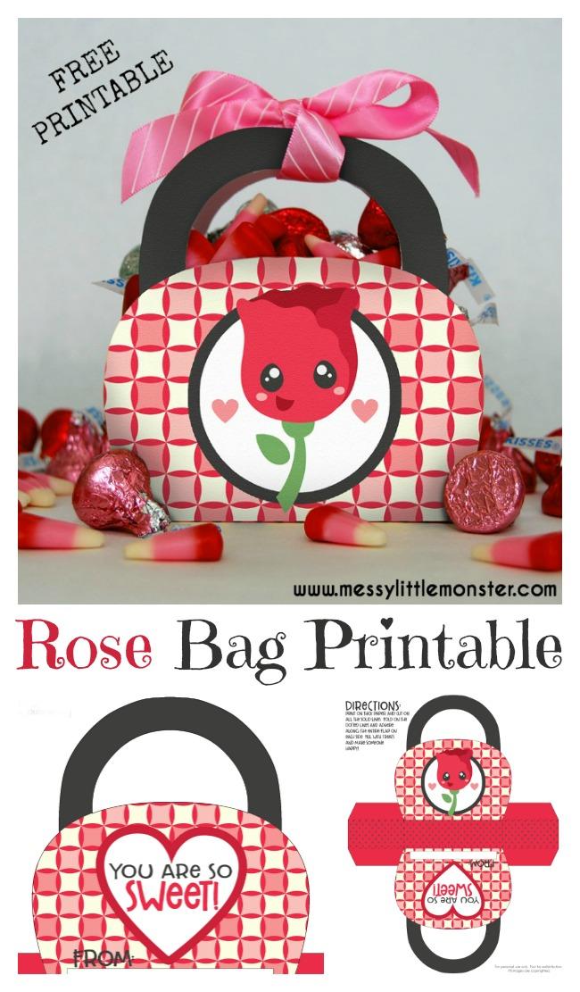 Valentine S Day Gift Bag Printable Messy Little Monster