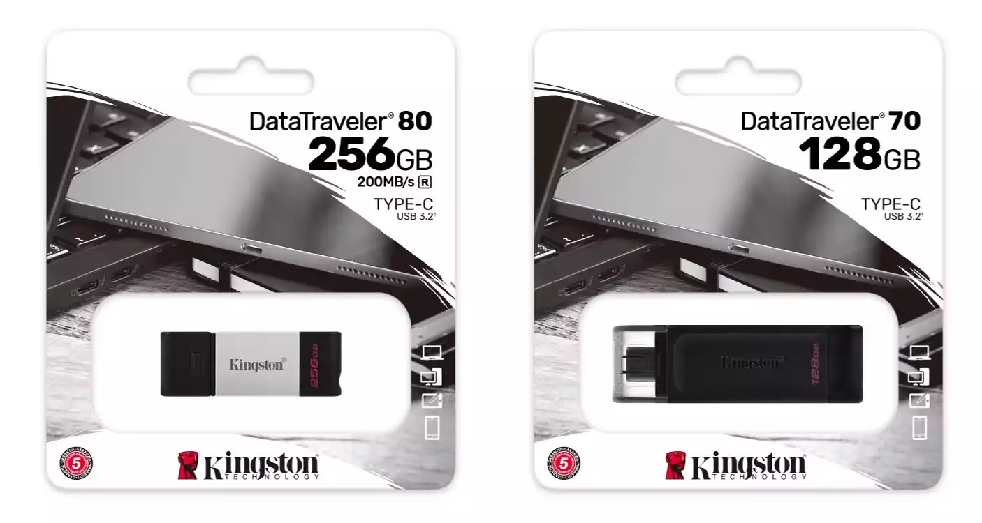 Kingston DataTraveler 80 and DataTraveler 70