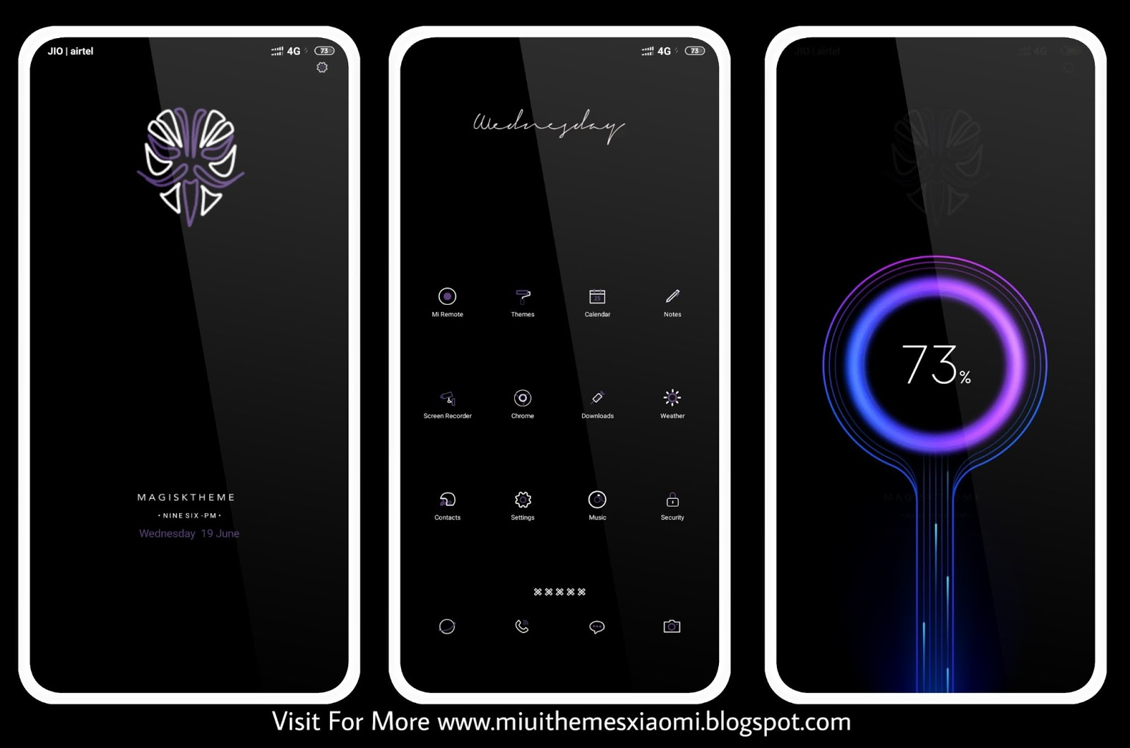 Dark Magisk MIUI Theme Download For Xiaomi Mobile || MIUI