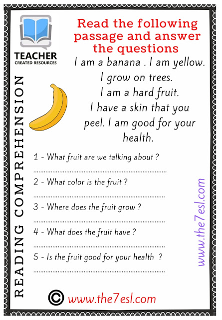 Reading and Writing ( Fruits )