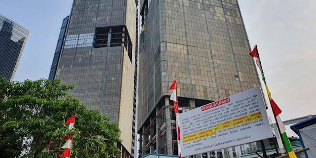 Ribut dengan Sonangol China, Gedung Indonesia 1 Disegel