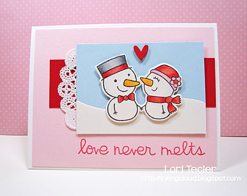 Love Never Melts card-designed by Lori Tecler/Inking Aloud-stamps and dies from Paper Smooches