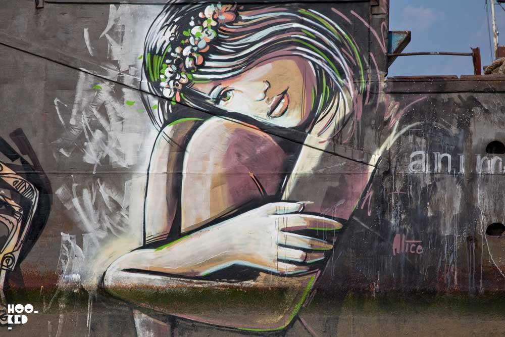 South London Street Art Mural - Alice Pasquini
