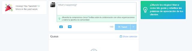 Sugerencias Twitter Dashboard