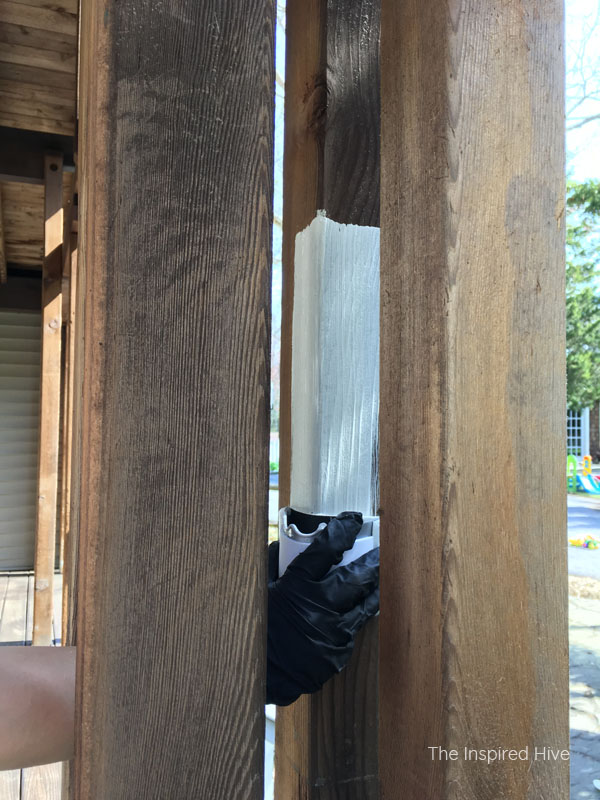 How to stain or paint porch posts