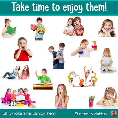 Teaching can be crazy busy! In fact, it's easy to get discouraged by all the extra meetings and expectations for teachers these days. Here's my best advice: Take time to enjoy them! Here's how!