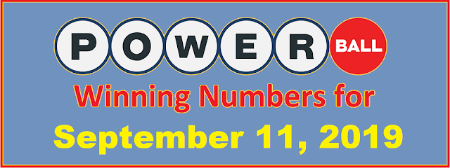 PowerBall Winning Numbers for Wednesday, September 11, 2019