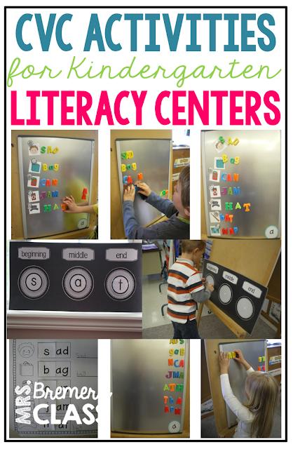 CVC activities to practice phoneme segmentation in Kindergarten