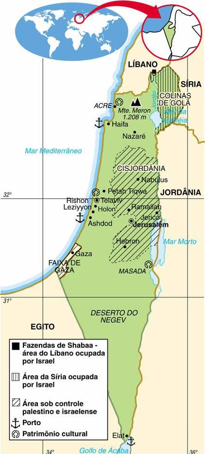 ISRAEL, ASPECTOS GEOGRÁFICOS E SOCIOECONÔMICOS DE ISRAEL