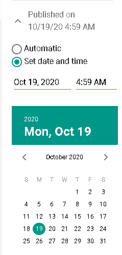 pilih jadwal terbit