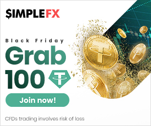 SimpleFX $100 Crypto No Deposit Bonus - Black Friday