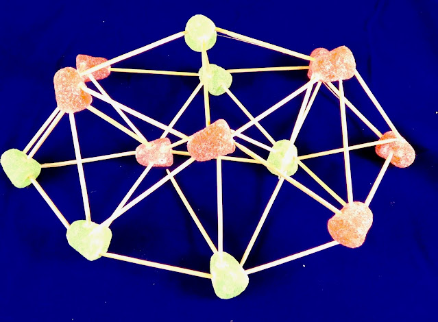 STEM Engineering with gumdrops and toothpicks