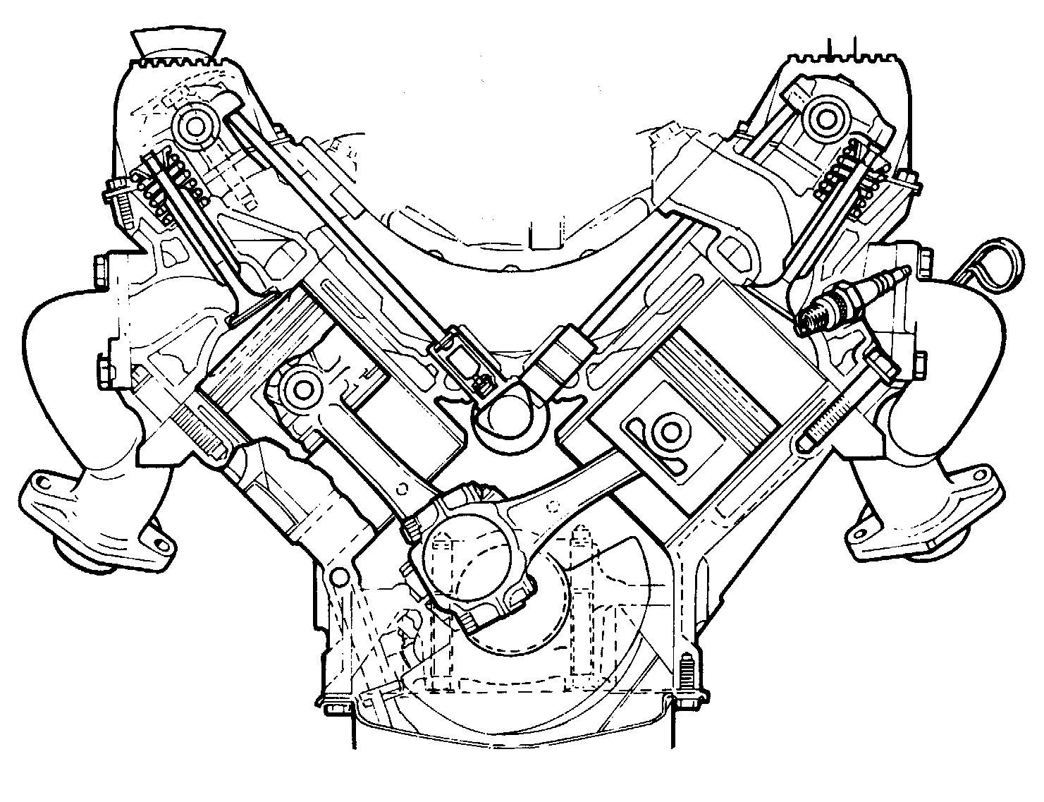 V8 Engine Exploded View Diagram Car, V8, Free Engine Image For User Manual Download