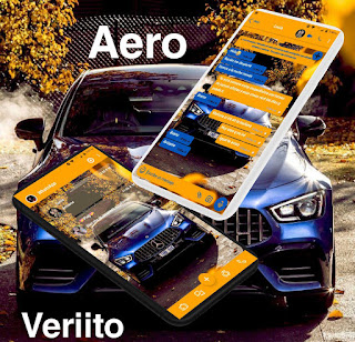 Blue Car Theme For YOWhatsApp & Fouad WhatsApp By Veriito