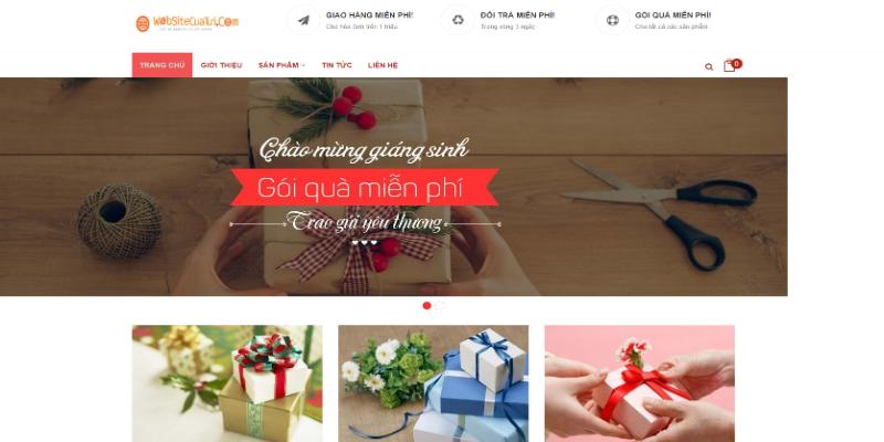 Mẫu website bán quà tặng đồ lưu niệm miễn phí