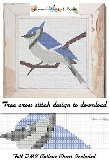 Bluejay Cross Stitch Pattern