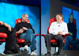 Steve Jobs and Bill Gates. Photo Joi Ito