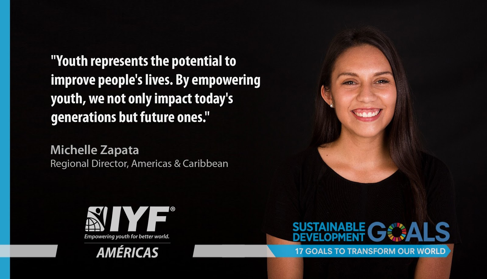 Michelle Zapata, IYF Regional Director, Americas & the Caribbean