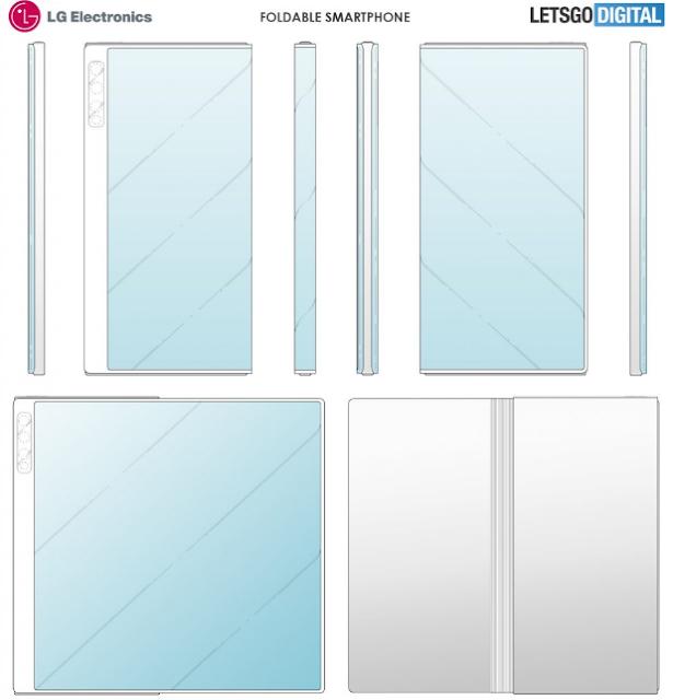 براءة اختراع من LG تعرض تصميم هاتفها القابل للطي