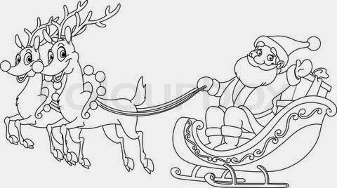 Santa Claus Sleigh Coloring Page 01 | Free Santa Claus Sleigh ... | 268x480