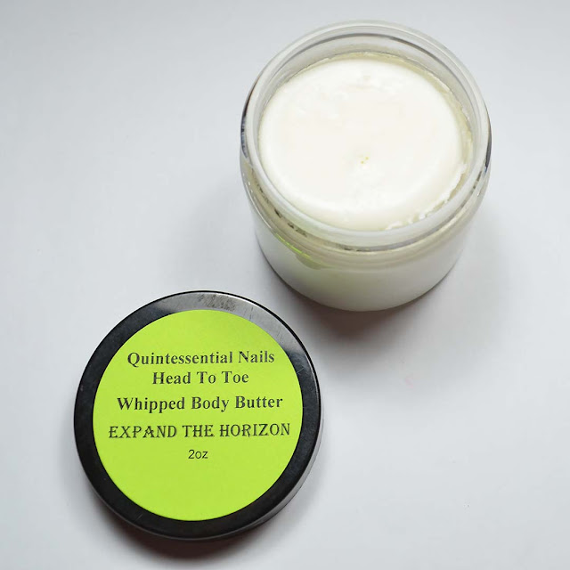 scented whipped body butter in a jar