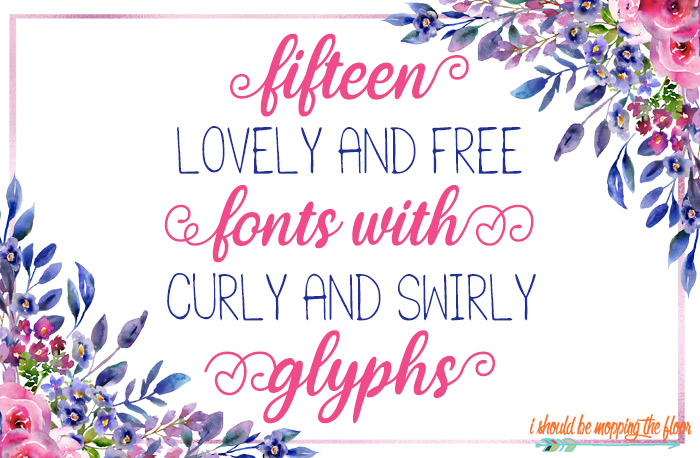 15 Free Fonts with Glyphs