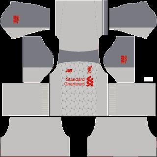Kit Dream League Soccer Liverpool Away