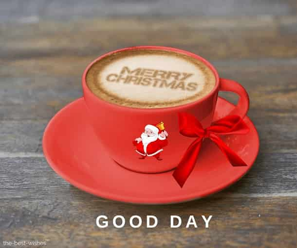 coffee with merry christmas