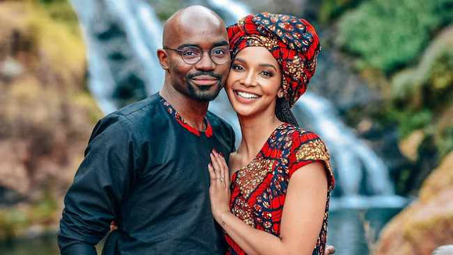 Dr Musa Mthombeni and Liesl Laurie