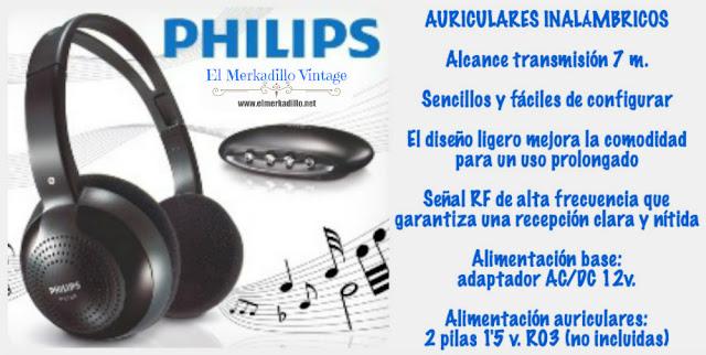 Auriculares de diadema inalámbricos (PHILIPS)